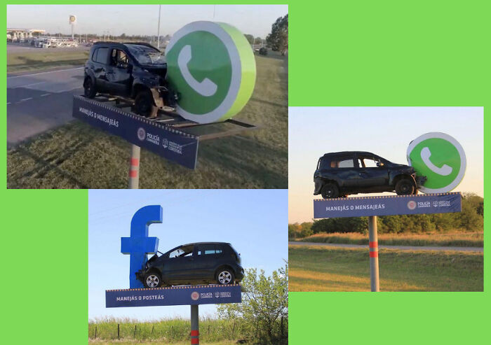 Clever Roadside Campaign To Raise Awareness Against Using Your Phone Whilst Driving.... Love This!