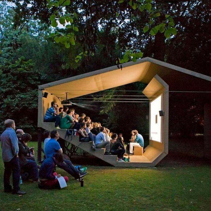 This Small Cinema Theater Designed By Erika Hock, Germany