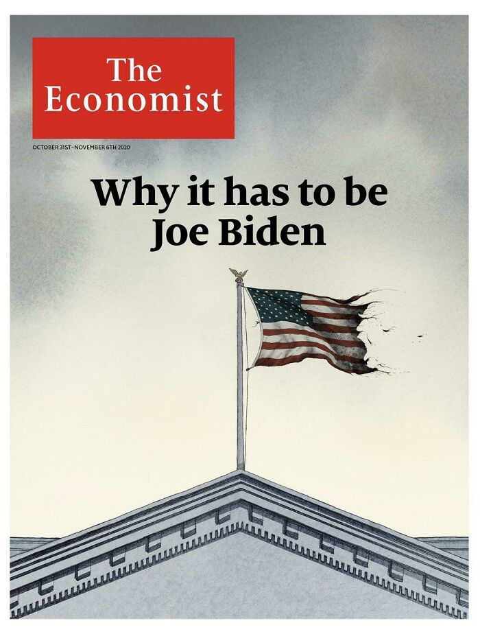 Donald Hiding In The Latest Cover Of The Economist