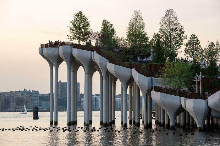 Heatherwick Studio's Little Island Creates An Artificial Landscape Above The Hudson River