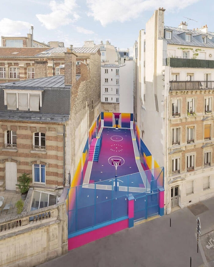 Pigalle Basketball Court Designed By Ill Studio & Nike