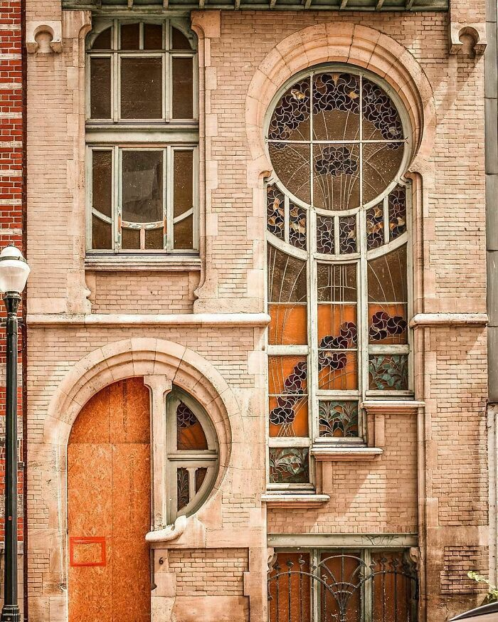 Art Nouveau Architecture Of A House Built In The 1880s, Brussels, Belgium