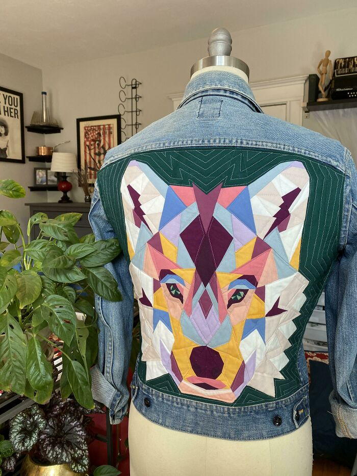 It's Denim Jacket Season Here In New England So I Found A Way To Display My Quilting On The Go!