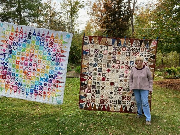 Grandma Says Thank You For All The Love! Both Dear Jane Quilts Together