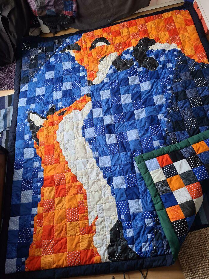 Finally Finished Fox Blanket 2,4 M X 2m