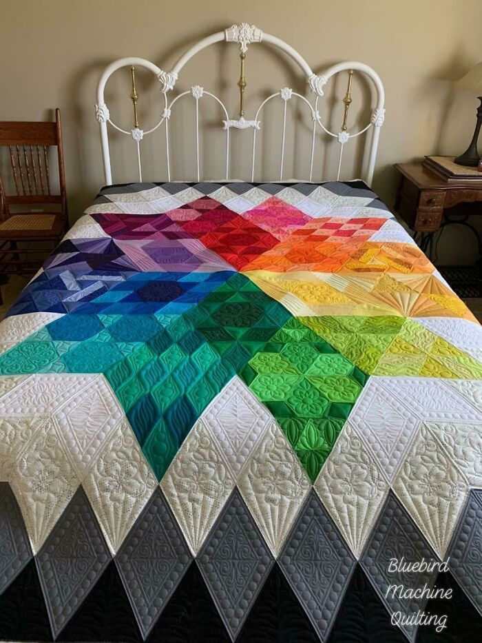 Just Finished Custom Quilting This Gravity Quilt For My Friend Kelly!