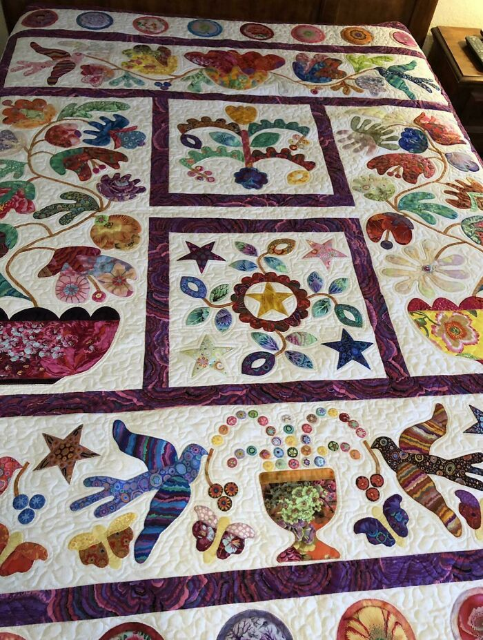 My Mom Made This Quilt And Won Second Place At The Texas State Fair Last Year. Sad That This Year There The Fair Has Been Canceled!!