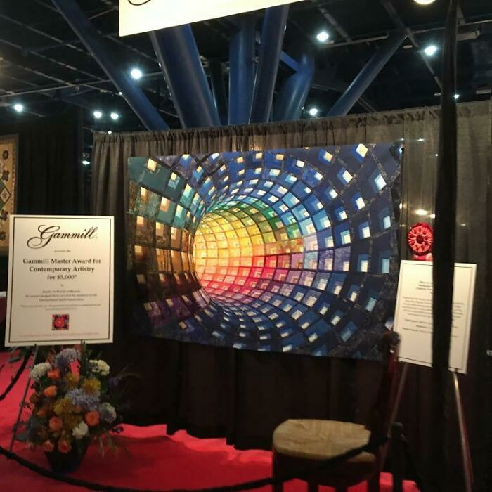 Tubular Piece From The 2019 International Quilt Festival