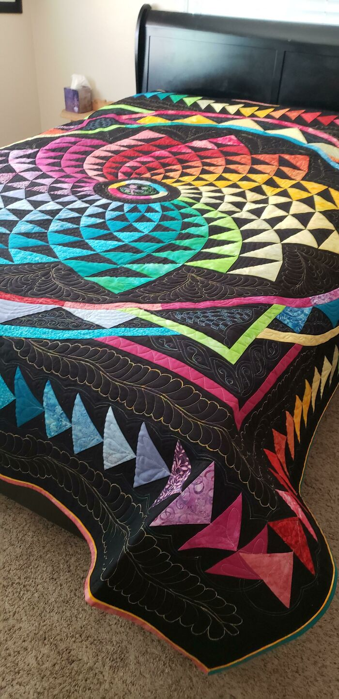 Color Wheel Quilt! Completed By My Mother, Sheila Bruner, Master Quilter. It Is So Stunning