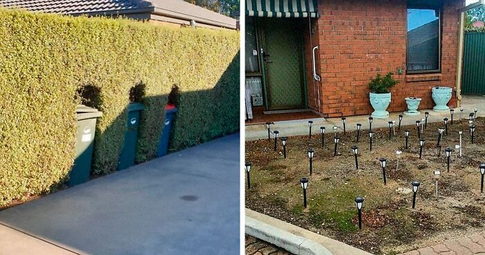 72 Of The Most Bizarre Things Seen In People's Gardens And Yards, As Shared On This Instagram Account For Ugly Gardens