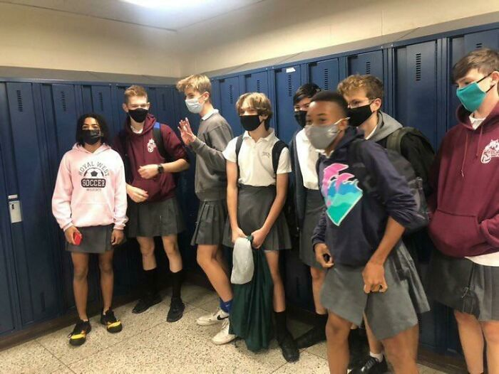 My Friends And I Organized A Skirt Day For All To Fight Against Gender Norms