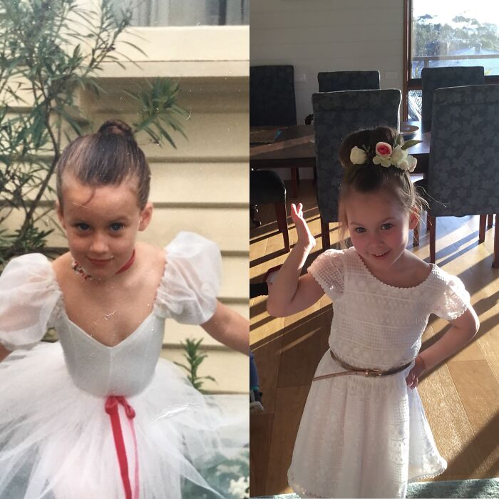 Me On The Left, My Beautiful Daughter On The Right. Both At 5yrs Old