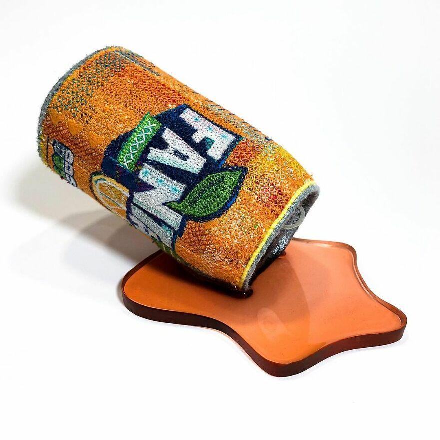 Artist Makes Detailed Embroidered Felt Food Sculptures