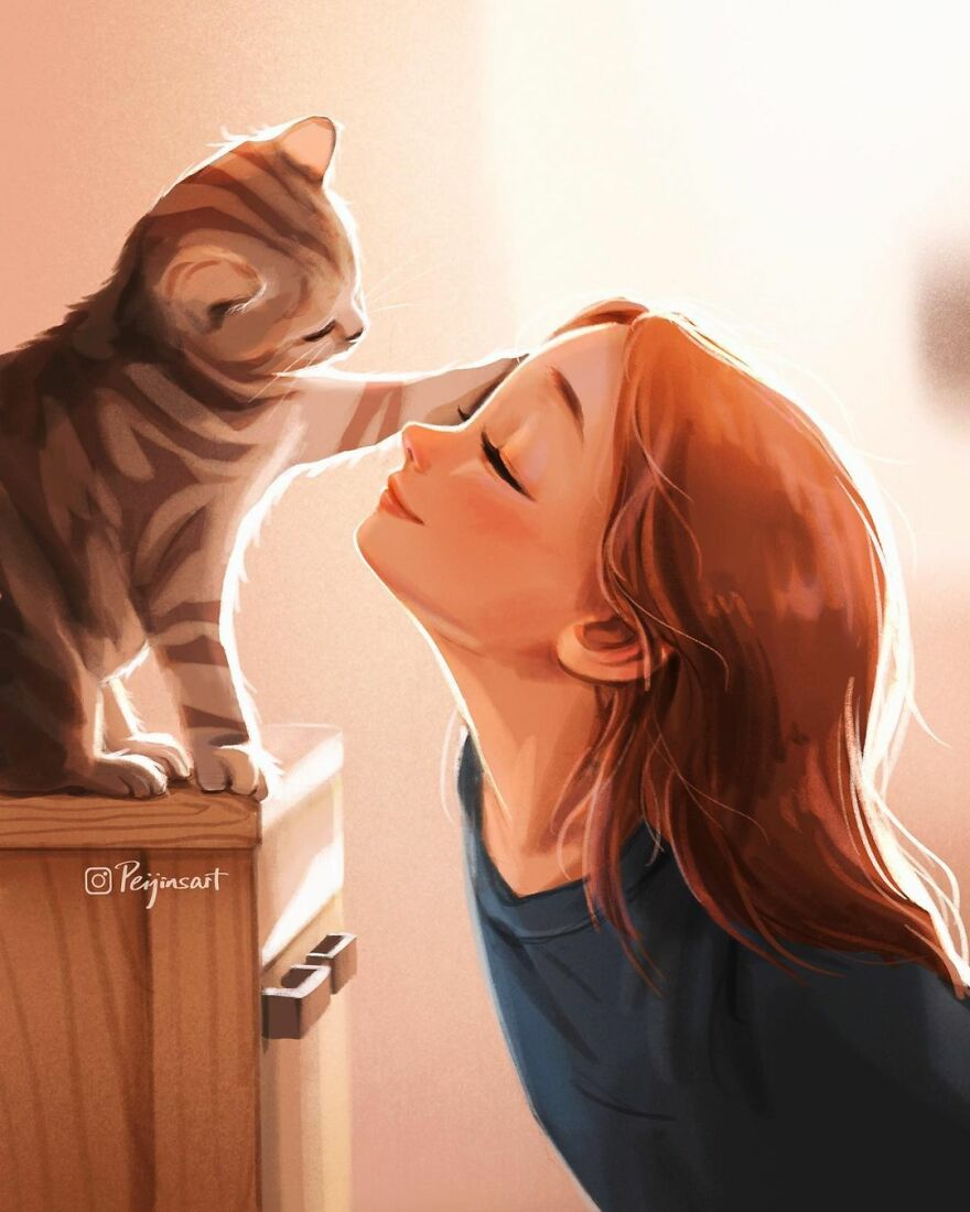 Artist Proves In His Illustrations That The Presence Of Animals Makes Everything Adorable (28 Pics)