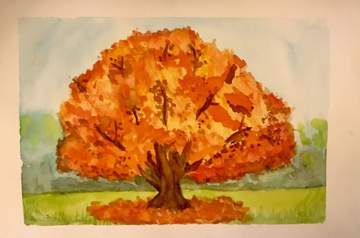 First Attempt At A Tree In Watercolour