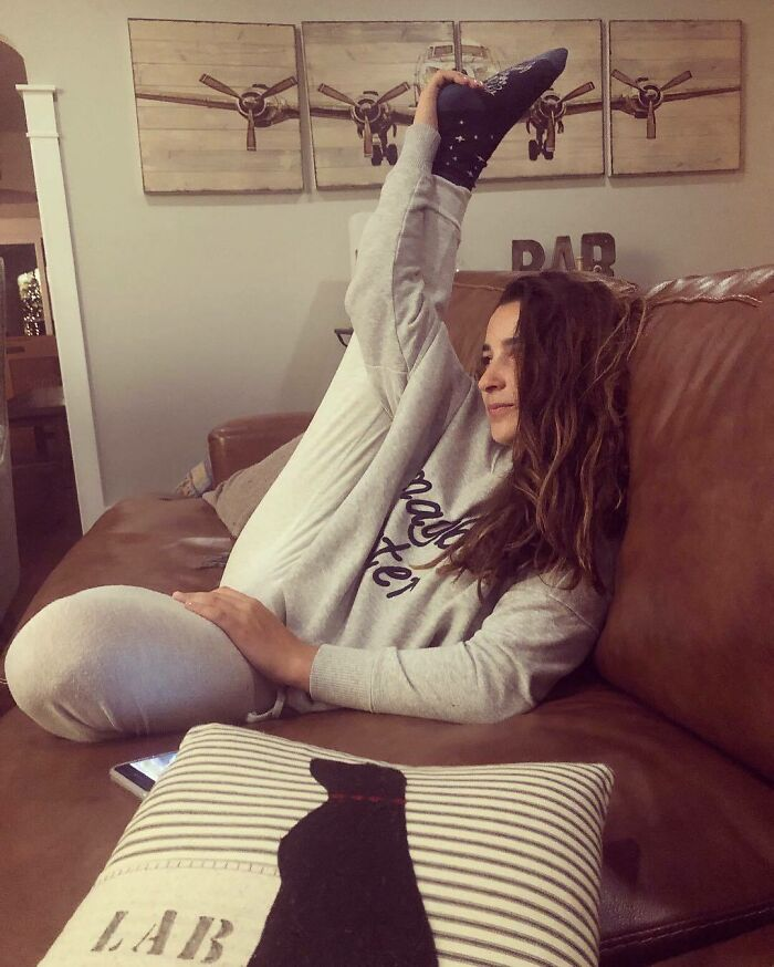 I Know I Am Not The Only Gymnast Who Sometimes Watches TV Like This