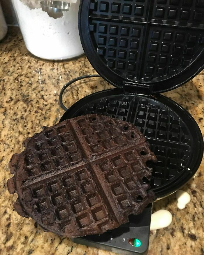Im Not Saying That She Has Pregnancy Brain... I Mean It's Also Possible That She Made Chocolate Waffles. Either Way It Smells Like A Delicious Campfire In Our Kitchen