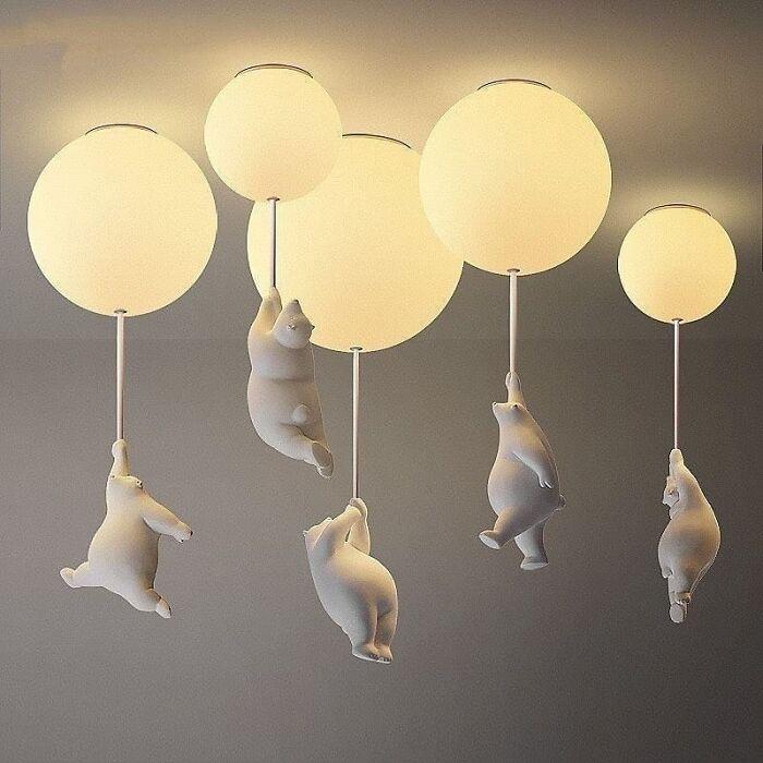 Teddy Bear Ceiling Lights By Elle Home Decor