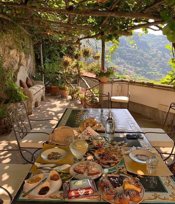 Imagine Waking Up And Having Breakfast In Amalfi Coast