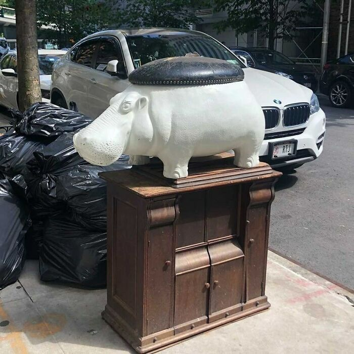 Your Living Has Been Missing A Hippo Stool... Just A Fyi. On W 93rd Between Columbus And Amsterdam