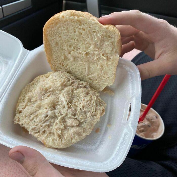 El sándwich de pollo que pidió un amigo mío
