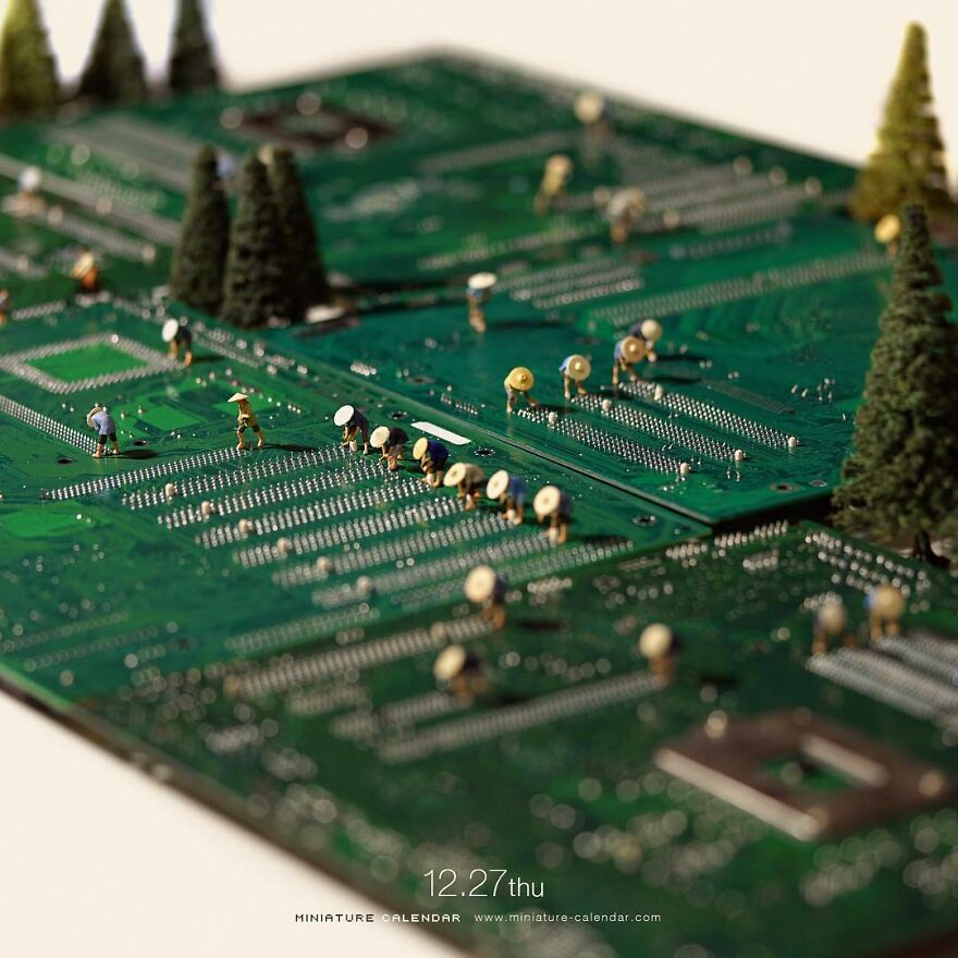 Every Day, This Artist Creates And Photographs Miniature Worlds (New Pics)