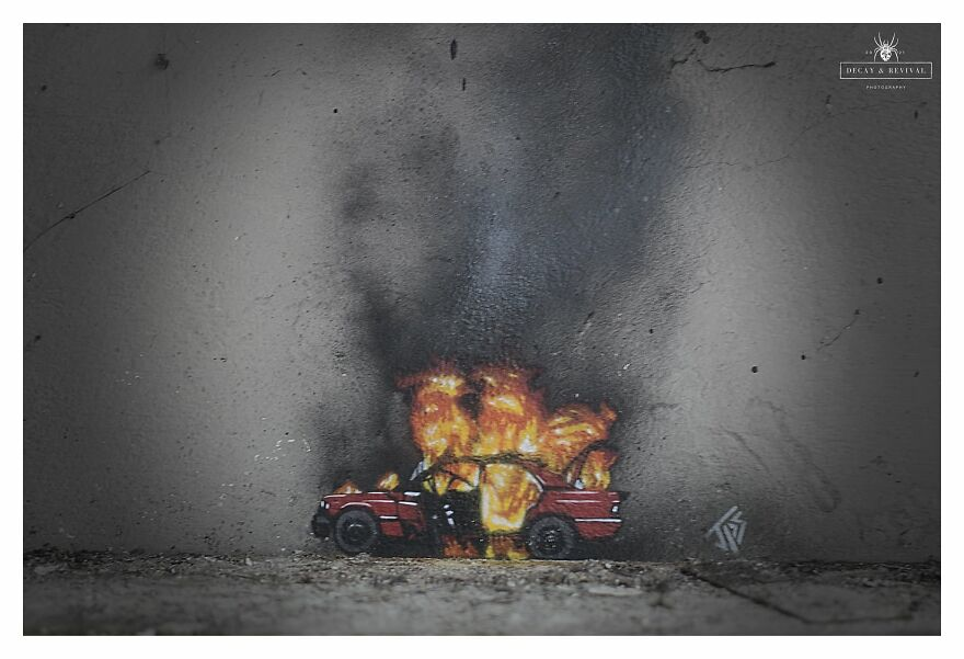 Burning Car, By JPS