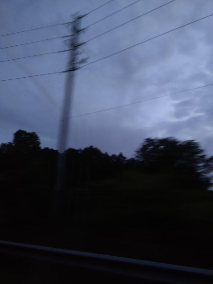 It's A Blurry Power Line....