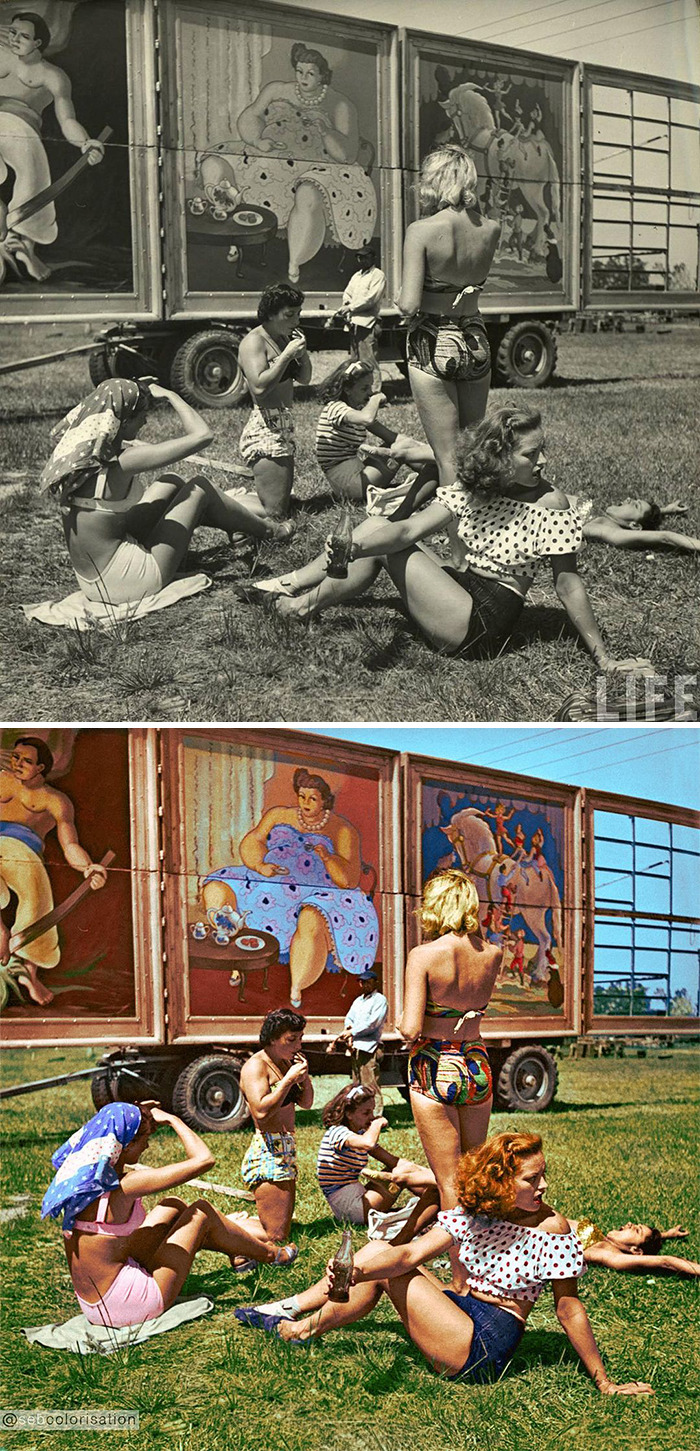 Artist Takes Interesting Old Photos And Colorizes Them (50 Pics)