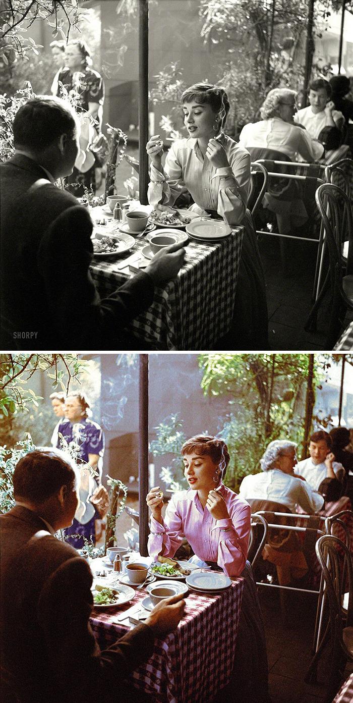 Audrey Hepburn (1929-1993) In 1956