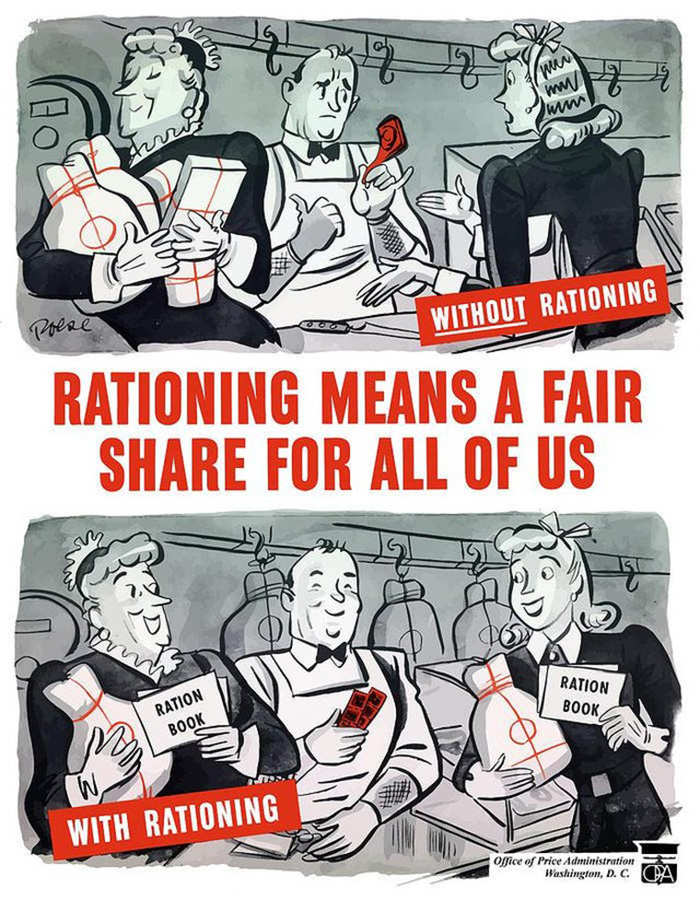 """""""Rationing Means A Fair Share For All Of Us"""" - USA, 1940s"""