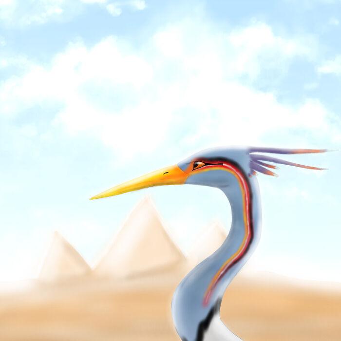 Bennu Bird, Done In Ibis Paint