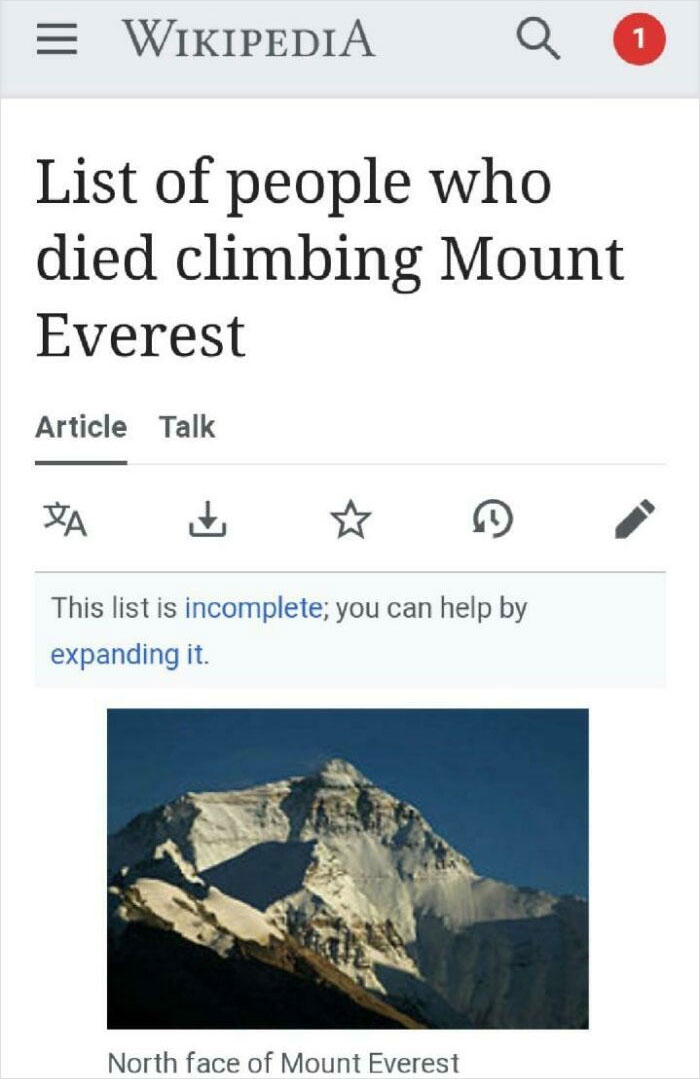 Expanding The Mount Everest List