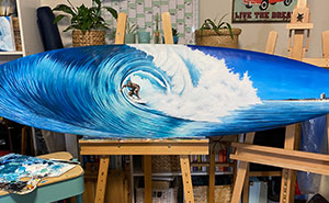 I Love Nature And The Sea, So I Upcycle Old Surfboards And Create Art On Them (23 Pics)