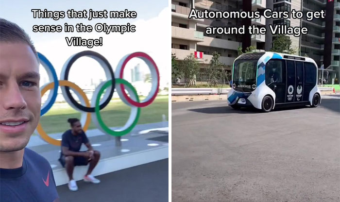 Athlete Shows Off All The Cool Stuff In The Olympic Village In Tokyo That Most Of Us Never See