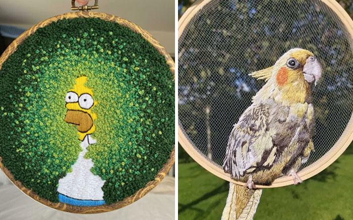 40 personas que mostraron sus mejores trabajos de bordado
