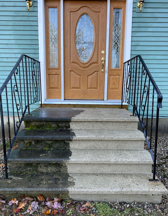 Boyfriend Finally Let Me Break Out The Power Washer On The Steps. They Were Nasty