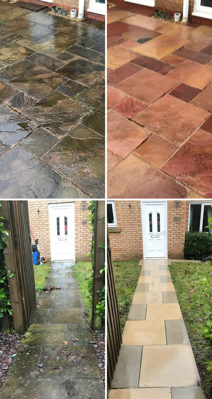 I'm A Little Speechless. I Genuinely Thought Our Patios And Paths Were Made With Brown Slabs