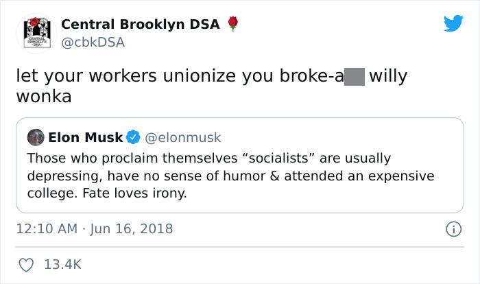Broke Willy Wonka Musk