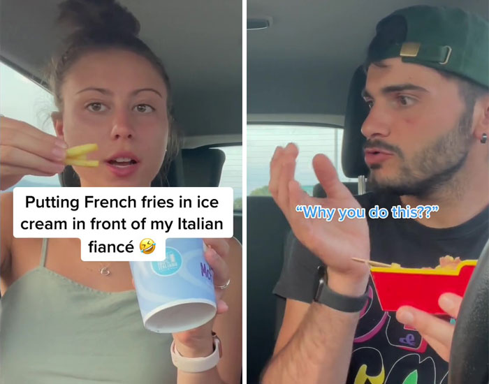 Putting French Fries In Ice Cream In Front Of My Italian Fiancé