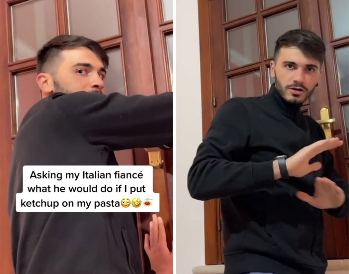 Asking My Italian Fiancé What He Would Do If I Put Ketchup On My Pasta