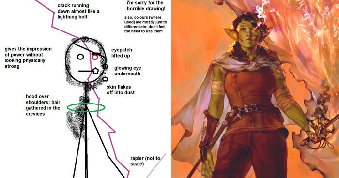 Artists Share What Sketches They Got From Their Clients Vs. What They Delivered And People Love Seeing The Comparison