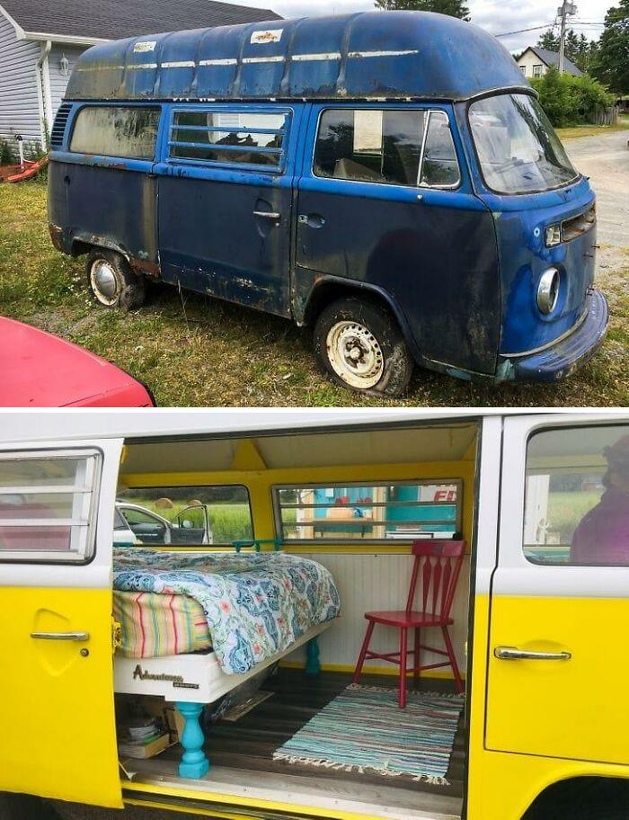Ultimate Upcycling! Abandoned Car To Airbnb!