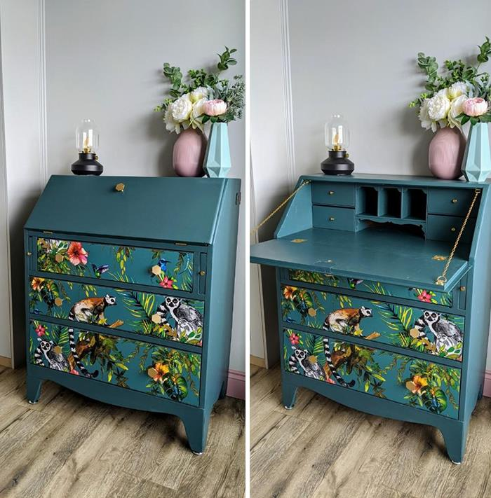 Old Handmade Writing Desk Turned Into A Changing Table For The New Nursery