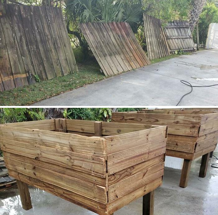 I Convinced My Friend To Not Throw Away His Old Fencing And Let Me Build Him Garden Boxes. How Do You Think They Came Out?