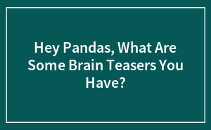 Hey Pandas, What Are Some Brain Teasers You Have?