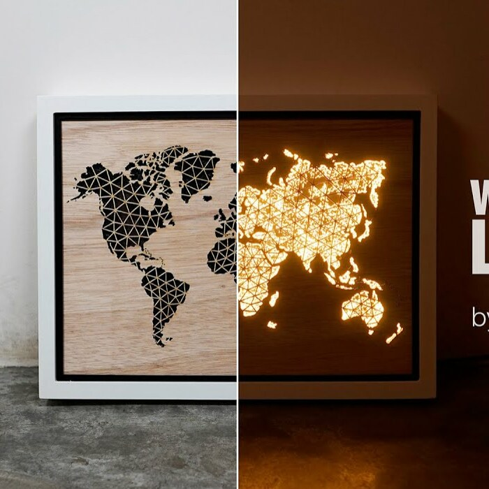 We Want To Bring Home The View Of Earth At Night From Space So We Created This