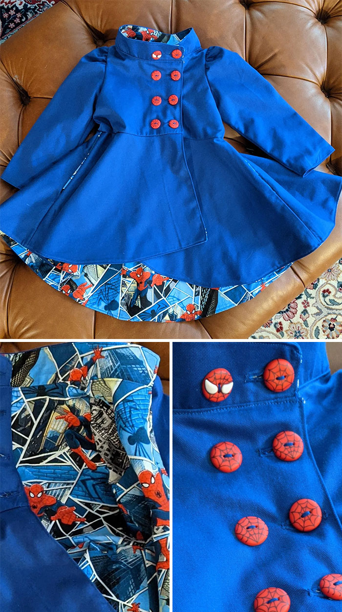 Duchess Coat By Ellie And Mac Patterns For My Spiderman-Obsessed 2y.o. Niece. I Can't Wait To See It On Her!