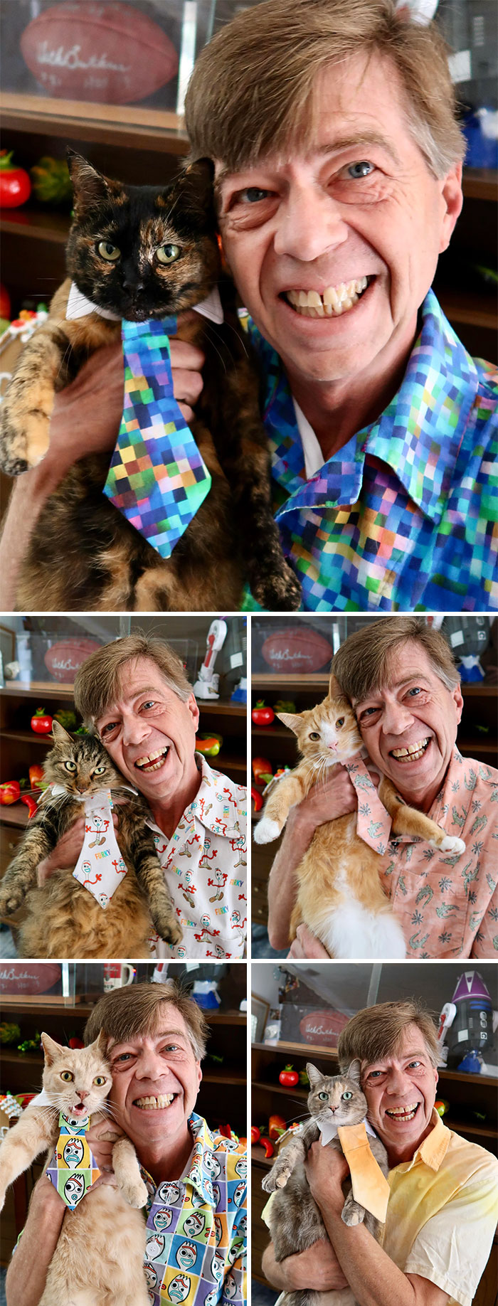 Been Sewing Shirts And Matching Ties For My 5 Cats. It's Been Fun. Hope You Like Them