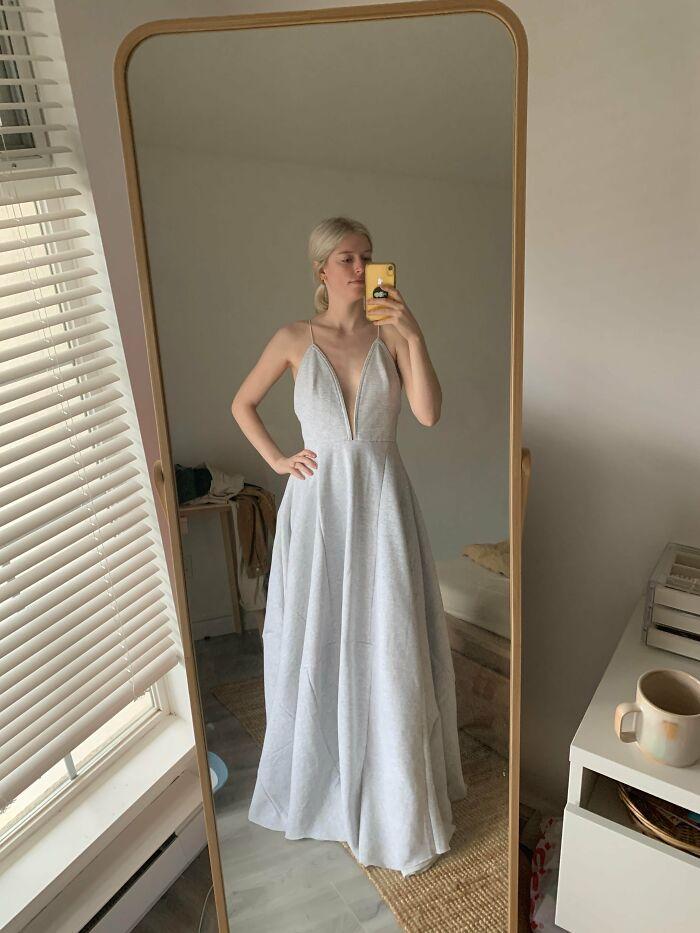 I Sewed A Wedding Dress Out Of Sweatpants